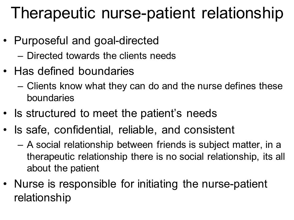 nurse patient relationship ppt